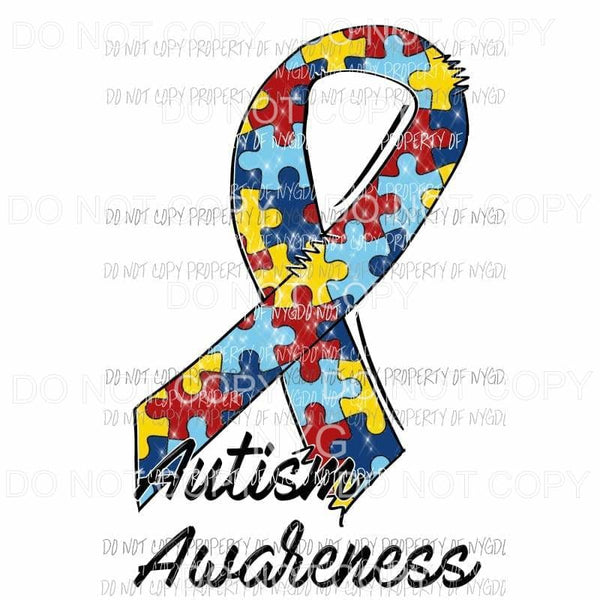 Autism Awareness # 2 Sublimation transfers Heat Transfer