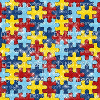 Autism Background #4 Sublimation transfers 13 x 9 inches Heat Transfer