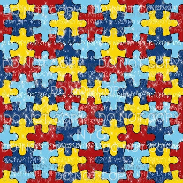 Autism Background #5 Sublimation transfers 13 x 9 inches Heat Transfer