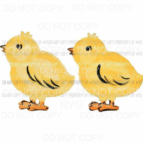 Baby Chickens Sublimation transfers Heat Transfer