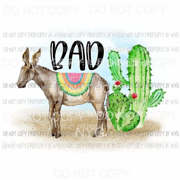 Bad Ass donkey cactus Sublimation transfers Heat Transfer