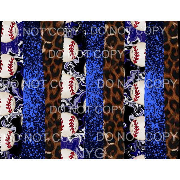 Baseball background blue # 3 Sublimation transfers - Heat