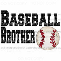 Baseball Brother # 2 Sublimation transfers Heat Transfer