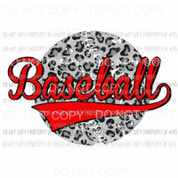 Baseball Grey Leopard Sublimation transfers Heat Transfer