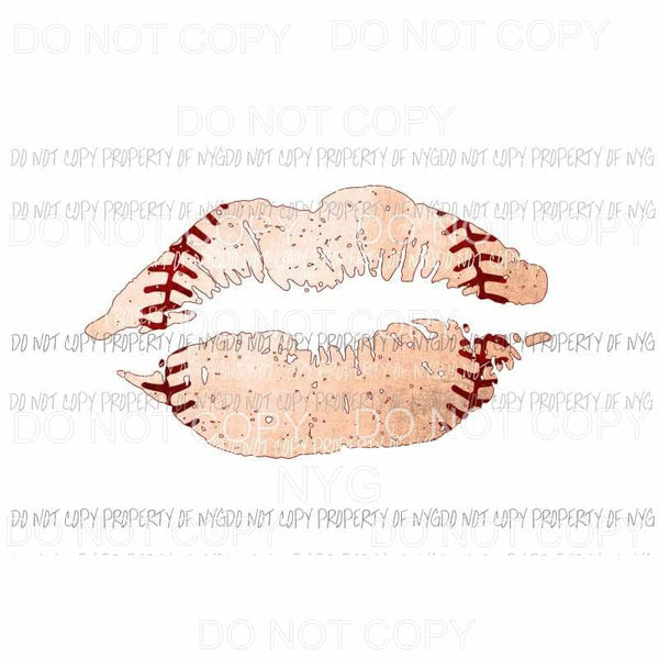 Baseball Lips #3 Sublimation transfers Heat Transfer
