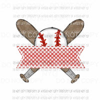 Baseball Red Banner bats Sublimation transfers Heat Transfer