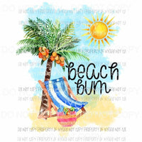 Beach Bum Sublimation transfers Heat Transfer