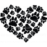 Bear Paws Heart Sublimation transfers - Heat Transfer