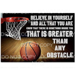 Believe in yourself basketball Sublimation transfers - Heat