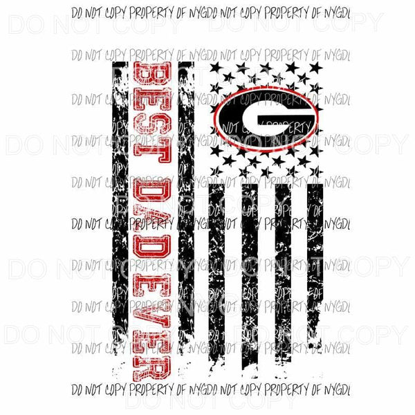 Best Dad ever - grandpa - pop pop Georgia Bulldogs 2 etc in drop down menu sublimation transfer Heat Transfer