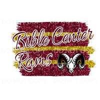 Bible Center Rams Stripe Sublimation transfers - Heat