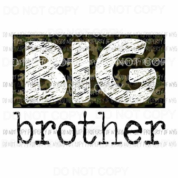 Big Brother camo Sublimation transfers Heat Transfer