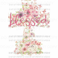 Blessed cross 3 Sublimation transfers Heat Transfer