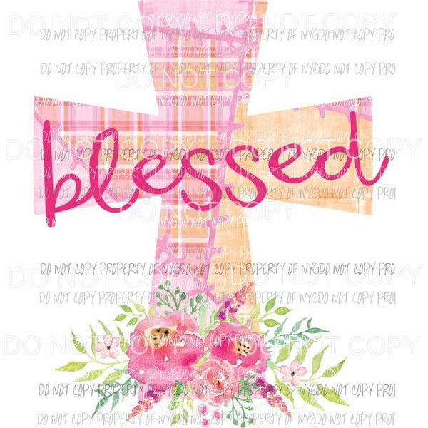 Blessed cross 4 Sublimation transfers Heat Transfer