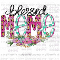 Blessed MeMe Hand Drawn Sublimation transfers Heat Transfer