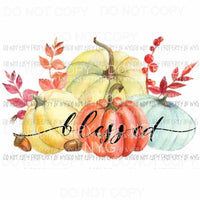 Blessed pumpkins # 6 Fall Sublimation transfers Heat Transfer