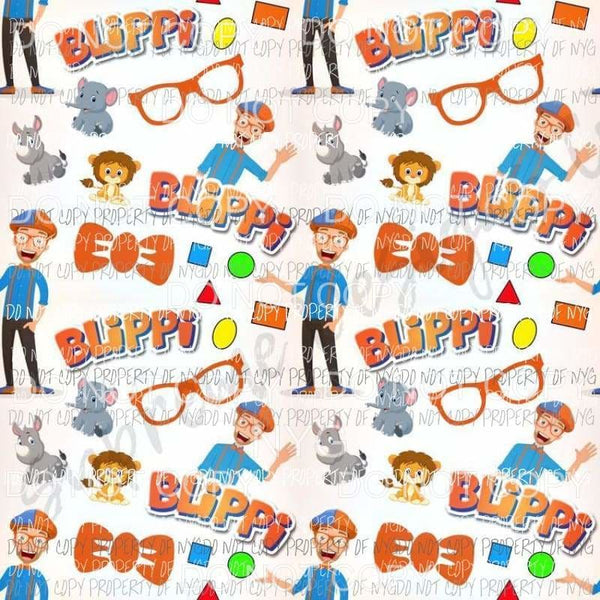 Blippi Bow Tie Glasses Sheet Sublimation transfers 13 x 9 inches Heat Transfer