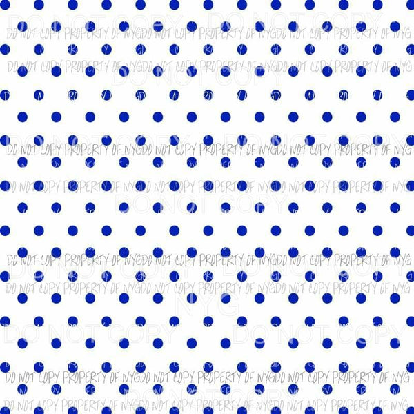 Blue Polka Dots Sheet #3 Sublimation transfers 13 x 9 inches Heat Transfer
