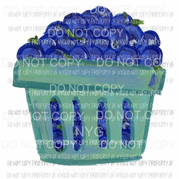 Blueberry Basket Sublimation transfers Heat Transfer