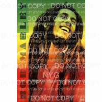 Bob Marley #1 Sublimation transfers Heat Transfer
