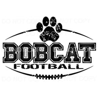 BOBCATS FOOTBALL all colors you choose Sublimation transfers