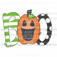 Boo # 3 Halloween Fall Sublimation transfers Heat Transfer