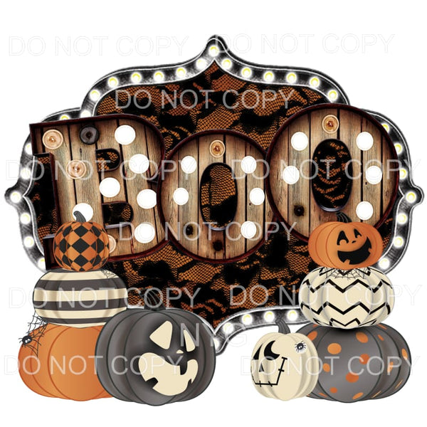 Boo Marquee Pumpkins Sublimation transfers - Heat Transfer