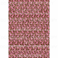 Breast Cancer Awareness Pink Ribbons Leopard Sheet Sublimation transfers 13 x 9 inches Heat Transfer