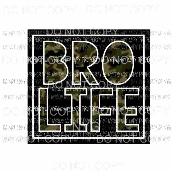 Bro Life camo Sublimation transfers Heat Transfer