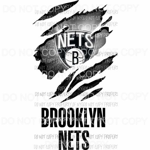 Brooklyn Nets ripped design Sublimation transfers Heat Transfer