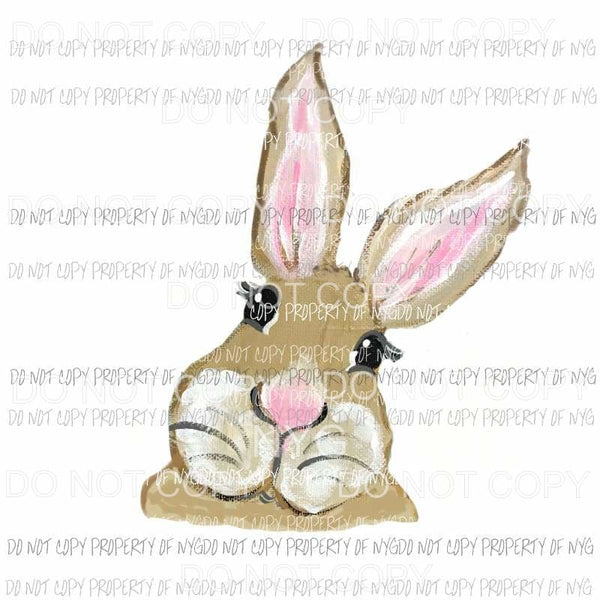 Brown Bunny Face Sublimation transfers Heat Transfer