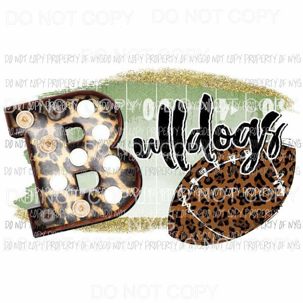Bulldogs football field leopard Sublimation transfers Heat Transfer