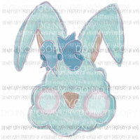 Bunny cotton candy bow Sublimation transfers Heat Transfer