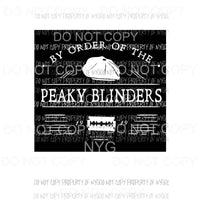 By order of the peaky blinders 4 Sublimation transfers Heat Transfer