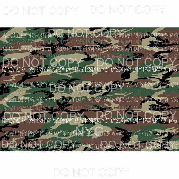 Camo Sheet #1 Sublimation transfers 13 x 9 inches Heat Transfer