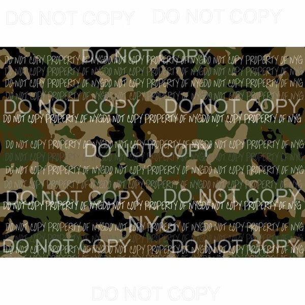 Camo Sheet #6 Sublimation transfers 13 x 9 inches Heat Transfer