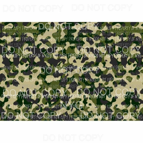 Camo Sheet #7 Sublimation transfers 13 x 9 inches Heat Transfer
