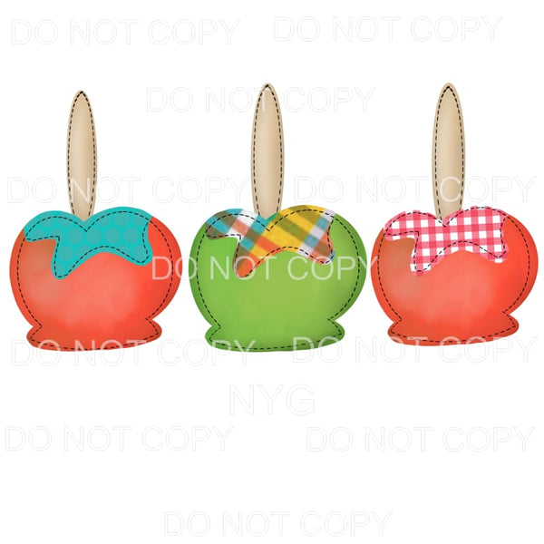 Candy Apple Trio Sublimation transfers - Heat Transfer