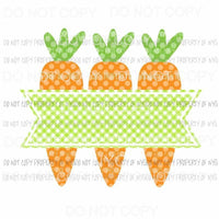 Carrot Trio Green Banner Sublimation transfers Heat Transfer