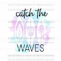 Catch The Waves surfboards Sublimation transfers Heat Transfer