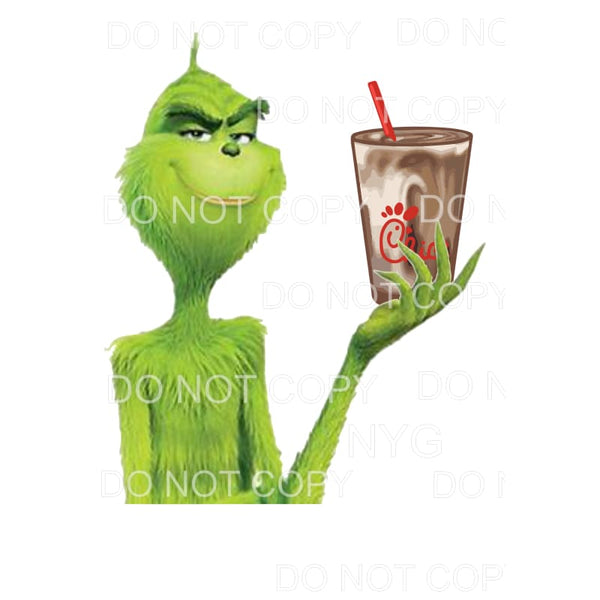 Chick Fil A Grinch Sublimation transfers - Heat Transfer