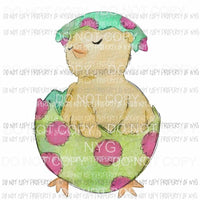 Chick in an Egg #1 polka dots Sublimation transfers Heat Transfer