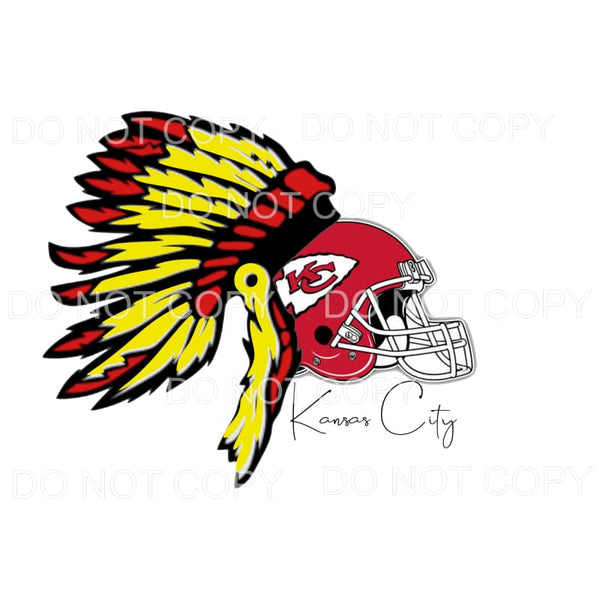 Chiefs Head Dress Helmet Sublimation transfers - Heat