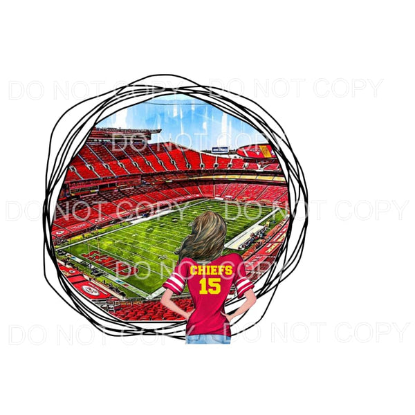 CHIEFS STADIUM # 1 KC Sublimation transfers - Heat Transfer