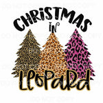 Christmas In Leopard Trees Sublimation transfers - Heat