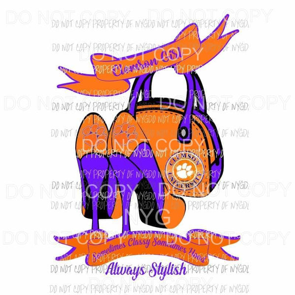 Clemson Heels Sublimation transfers Heat Transfer