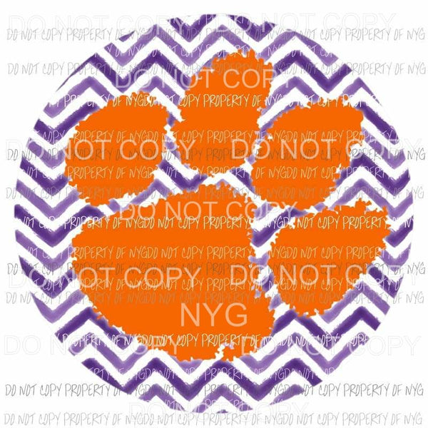 Clemson Tigers chevron circle Sublimation transfers Heat Transfer