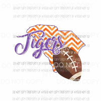 Clemson Tigers football chevron state Sublimation transfers Heat Transfer