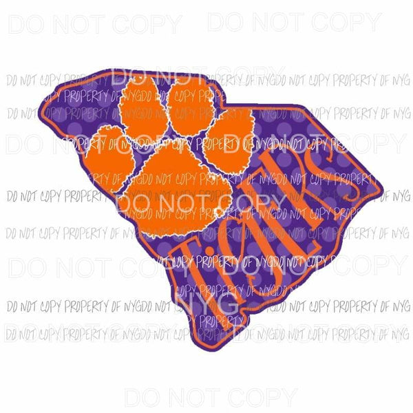 Clemson Tigers state Sublimation transfers Heat Transfer
