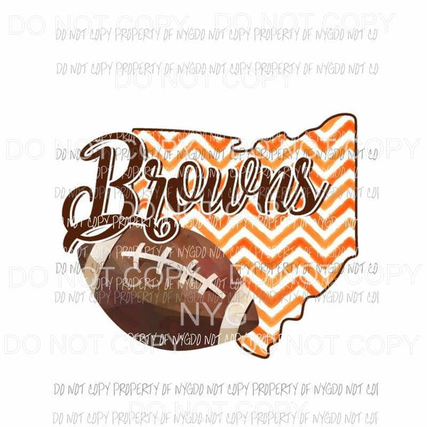 Cleveland Browns football chevron state Sublimation transfers Heat Transfer